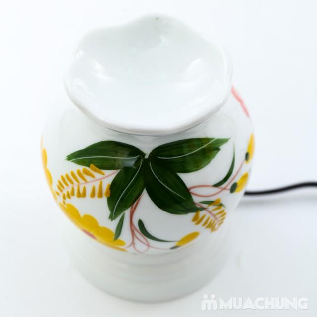 Đèn xông tinh dầu cắm điện loại nhỡ- sứ Bát Tràng - 10