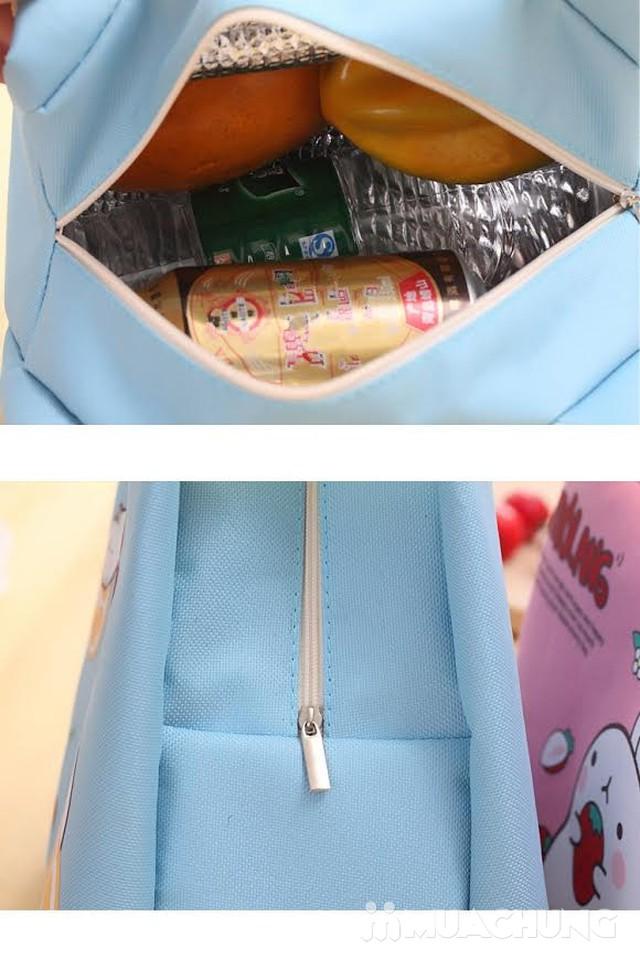 Túi đựng thức ăn 2 lớp cách nhiệt in hình xinh xắn - 1