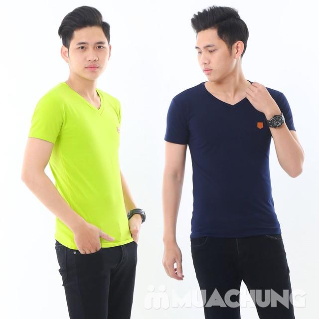 2 áo phông nam nhiều màu chất cotton thoáng mát - 9