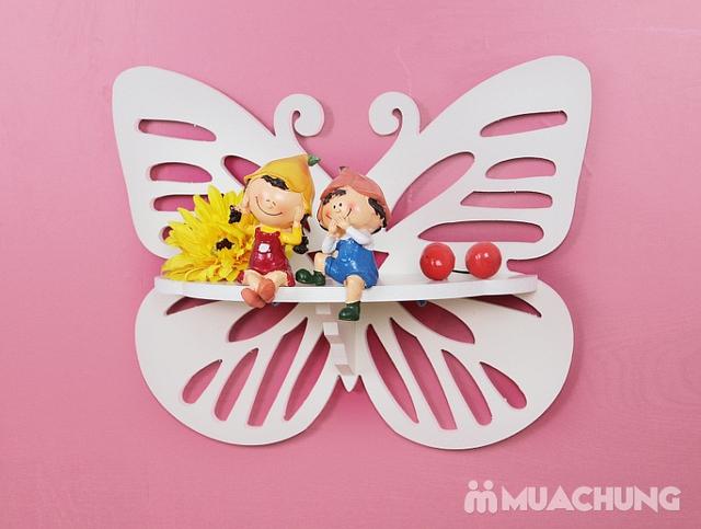 Combo 2 kệ trang trí hình cánh bướm - 4