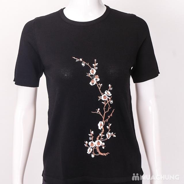 Áo len nữ thêu hoa chất đẹp - hàng Quảng Châu - 12