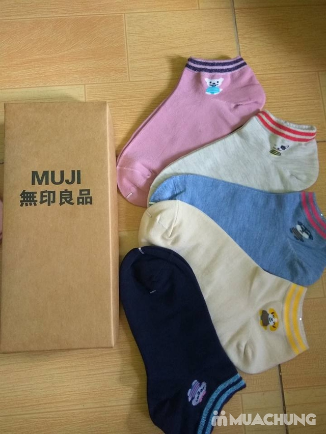 Hộp 5 đôi tất Muji cho bé từ 6 - 15 tuổi - 4