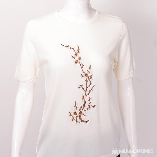 Áo len nữ thêu hoa chất đẹp - hàng Quảng Châu - 16