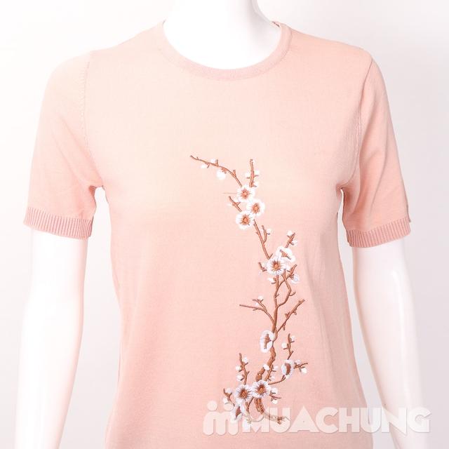 Áo len nữ thêu hoa chất đẹp - hàng Quảng Châu - 8