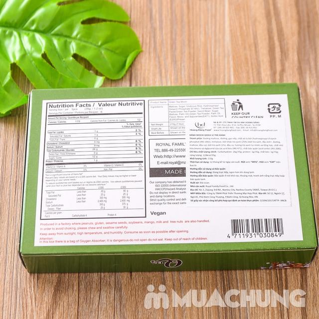 3 hộp bánh Mochi vị trà xanh, đậu đỏ và khoai môn - 10