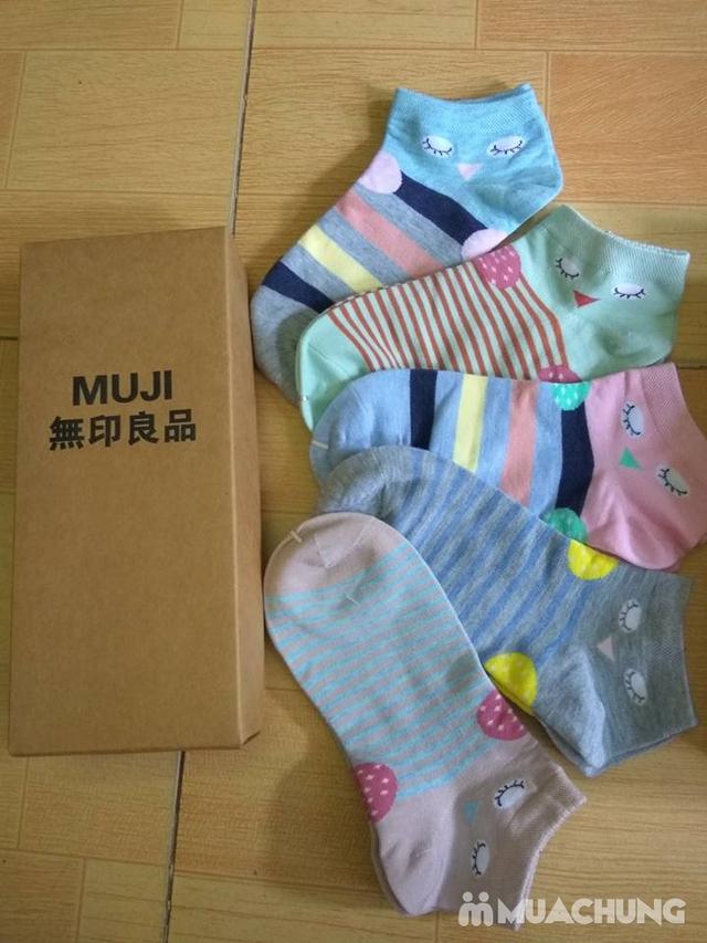 Hộp 5 đôi tất Muji cho bé từ 6 - 15 tuổi - 2