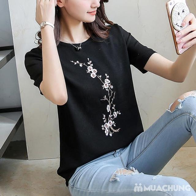 Áo len nữ thêu hoa chất đẹp - hàng Quảng Châu - 6
