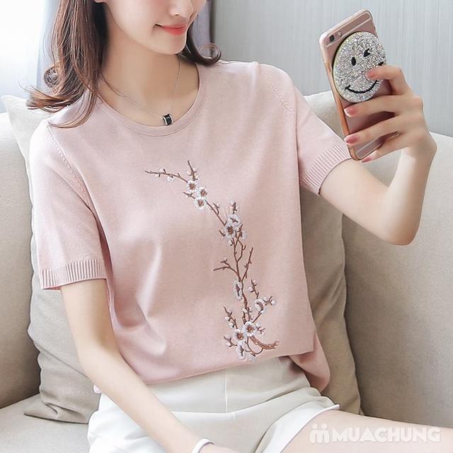 Áo len nữ thêu hoa chất đẹp - hàng Quảng Châu - 5