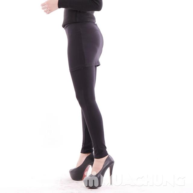 Quần legging giả váy trẻ trung 100% cotton - 10