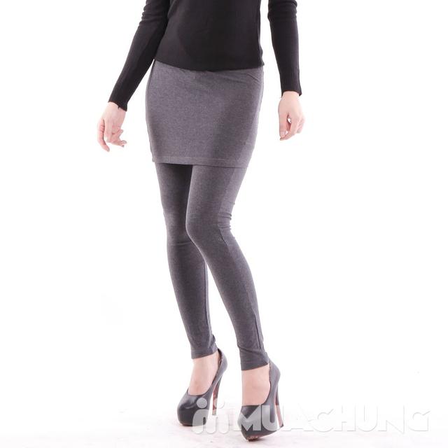 Quần legging giả váy trẻ trung 100% cotton - 13
