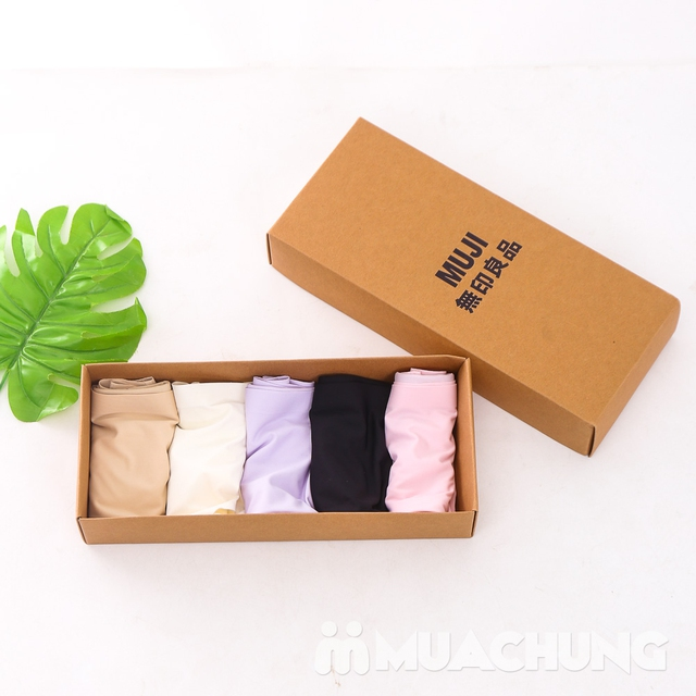 Hộp 5 quần lót Muji không đường may cho bạn gái - 10