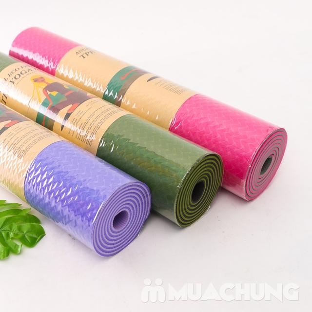 Thảm tập yoga TPE 2 lớp siêu bền, siêu nhẹ 6mm - 1