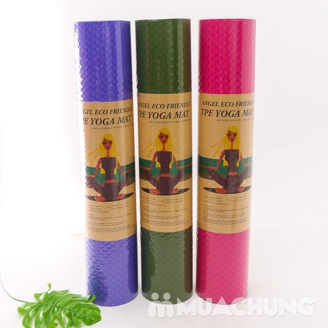 Thảm tập yoga TPE 2 lớp siêu bền, siêu nhẹ 6mm - 3
