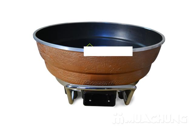 Chảo lẩu nướng Vntech có vỉ hấp - 4
