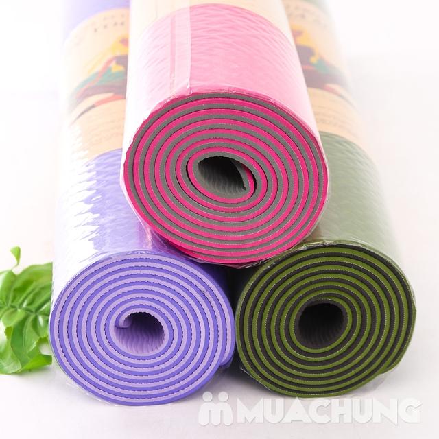 Thảm tập yoga TPE 2 lớp siêu bền, siêu nhẹ 6mm - 4