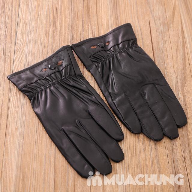 Găng tay giả da lót lông ấm áp - 7