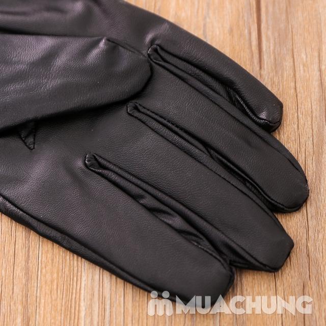 Găng tay giả da lót lông ấm áp - 12
