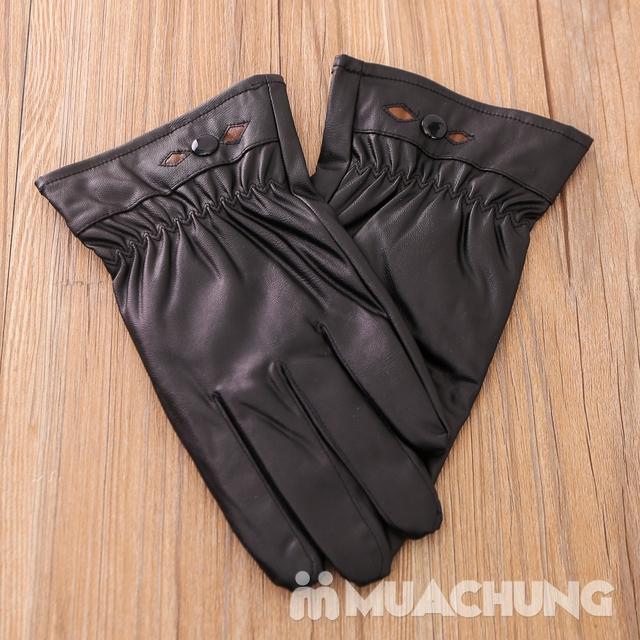 Găng tay giả da lót lông ấm áp - 9