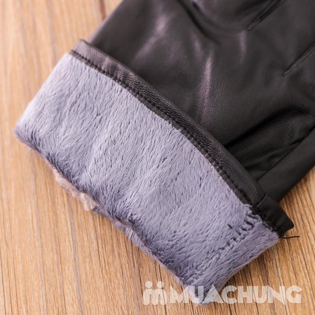 Găng tay giả da lót lông ấm áp - 13