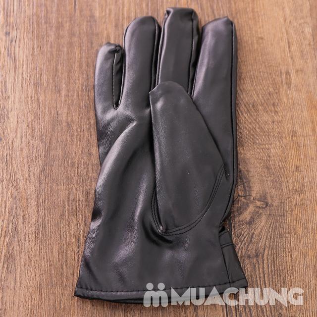 Găng tay da cảm ứng, lót lông ấm áp ngày lạnh - 6