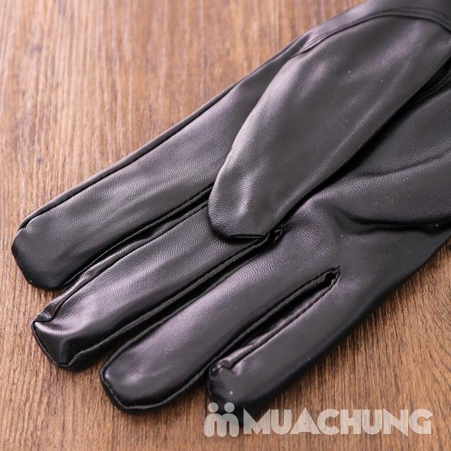 Găng tay da cảm ứng, lót lông ấm áp ngày lạnh - 9