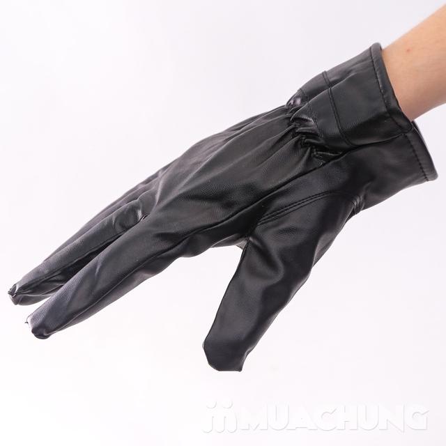 Găng tay da cảm ứng, lót lông ấm áp ngày lạnh - 15