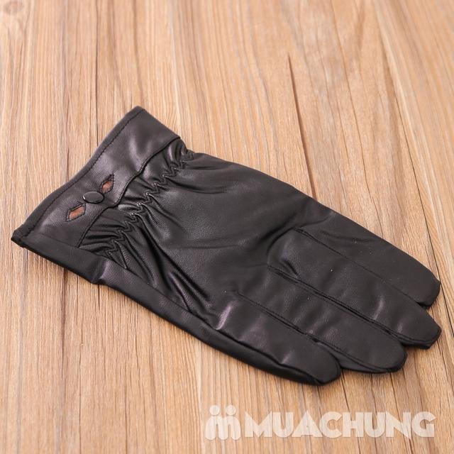 Găng tay giả da lót lông ấm áp - 10