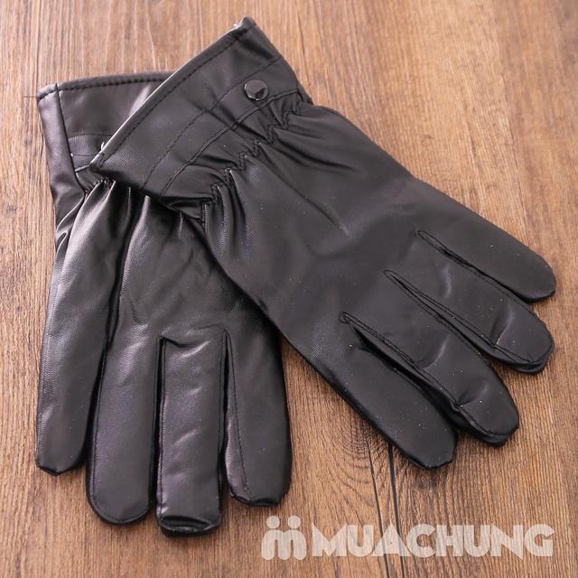 Găng tay da cảm ứng, lót lông ấm áp ngày lạnh - 11