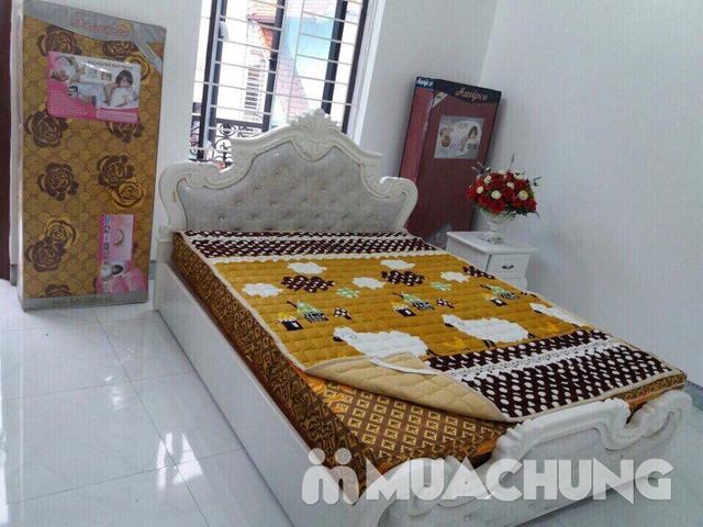 Thảm nỉ trải giường họa tiết 2x2,2m - 4