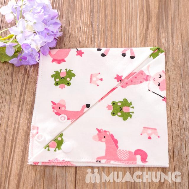 Set 5 khăn yếm tam giác 2 lớp chất cotton mềm mịn - 14