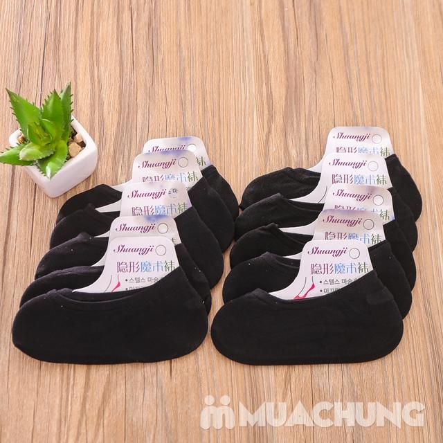 10 đôi tất hài nữ có silicon sau gót chống trượt - 11