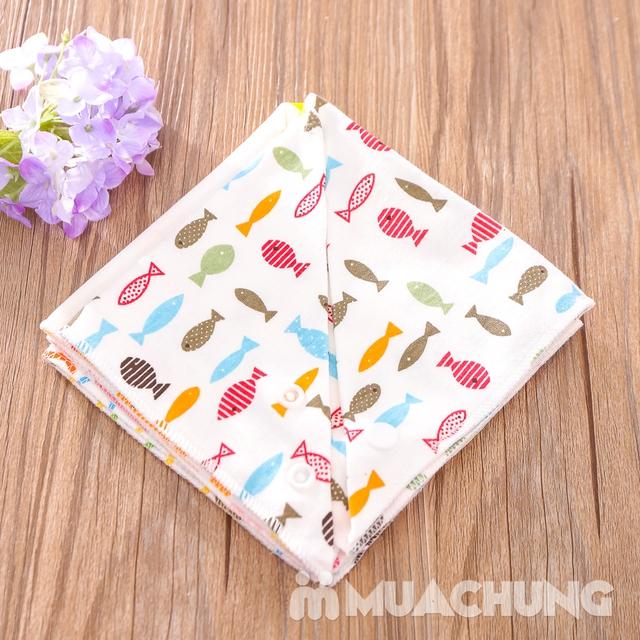 Set 5 khăn yếm tam giác 2 lớp chất cotton mềm mịn - 10