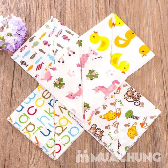 Set 5 khăn yếm tam giác 2 lớp chất cotton mềm mịn - 11