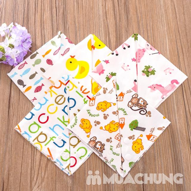 Set 5 khăn yếm tam giác 2 lớp chất cotton mềm mịn - 7