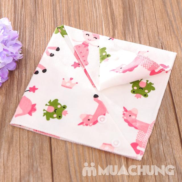Set 5 khăn yếm tam giác 2 lớp chất cotton mềm mịn - 13
