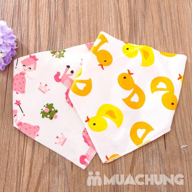 Set 5 khăn yếm tam giác 2 lớp chất cotton mềm mịn - 9