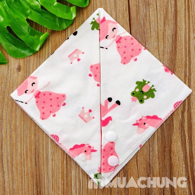 Set 10 khăn yếm cotton mềm mịn có cúc bấm - 8