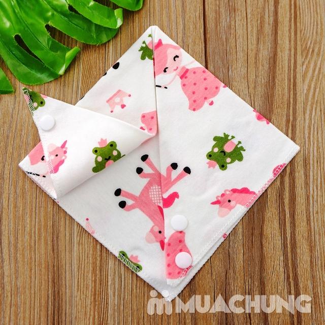 Set 10 khăn yếm cotton mềm mịn có cúc bấm - 9
