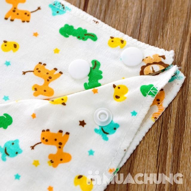 Set 10 khăn yếm cotton mềm mịn có cúc bấm - 11