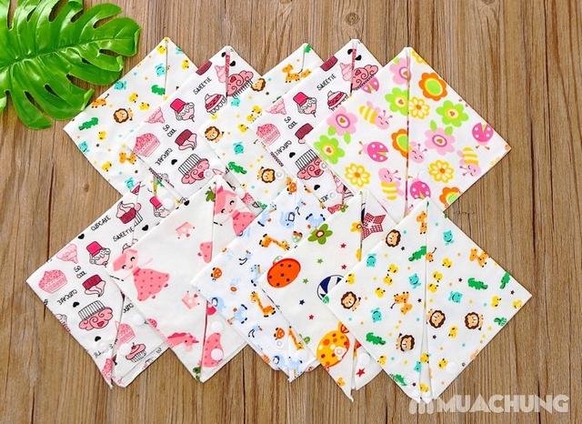 Set 10 khăn yếm cotton mềm mịn có cúc bấm - 7