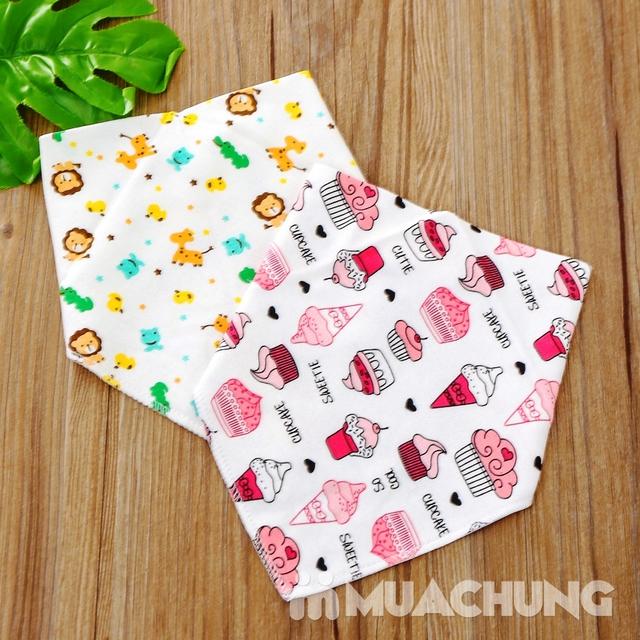 Set 10 khăn yếm cotton mềm mịn có cúc bấm - 13