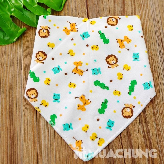 Set 10 khăn yếm cotton mềm mịn có cúc bấm - 12