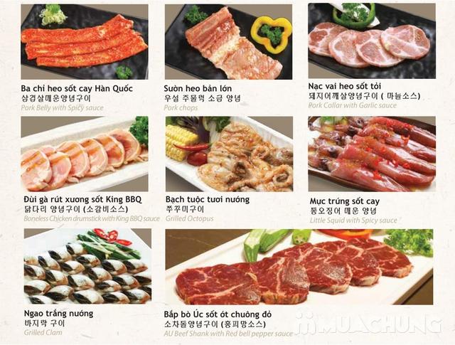 Buffet King BBQ - Vua nướng Hàn Quốc menu VIP 279k - 21