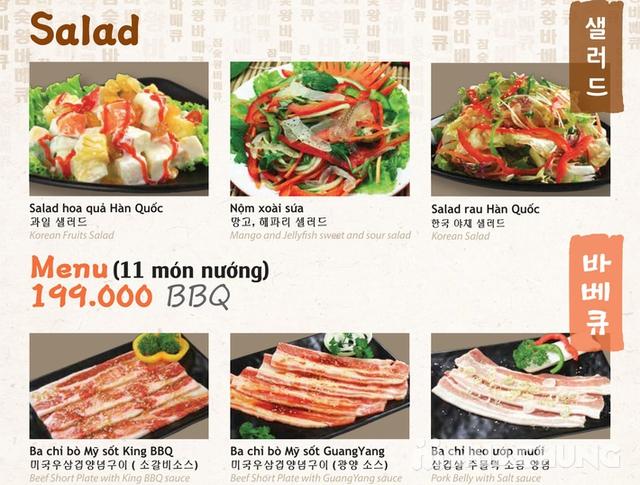 Buffet King BBQ - Vua nướng Hàn Quốc menu VIP 279k - 20