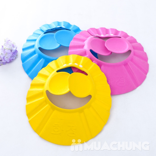3 mũ tắm, gội đầu có nút điều chỉnh cho bé - 5