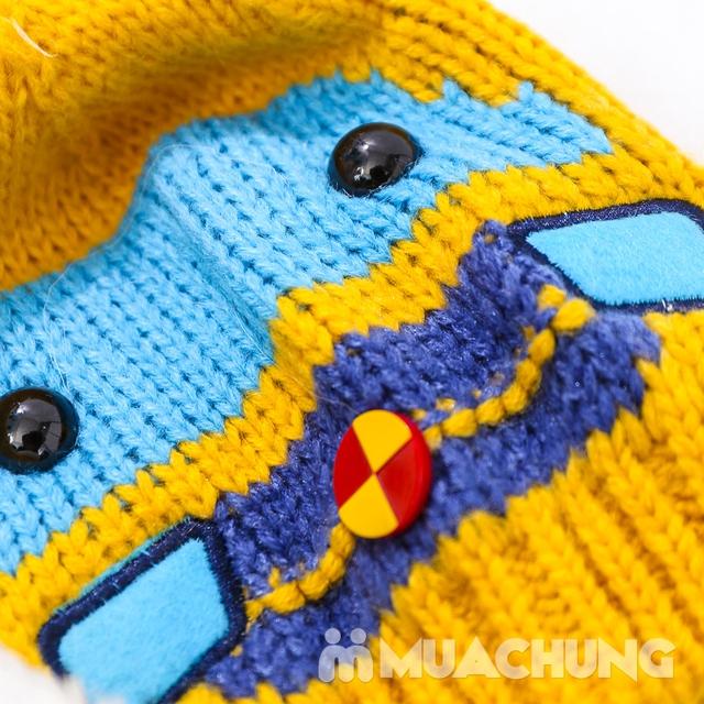 Set khăn dài + mũ len hình robot ngộ nghĩnh cho bé - 6