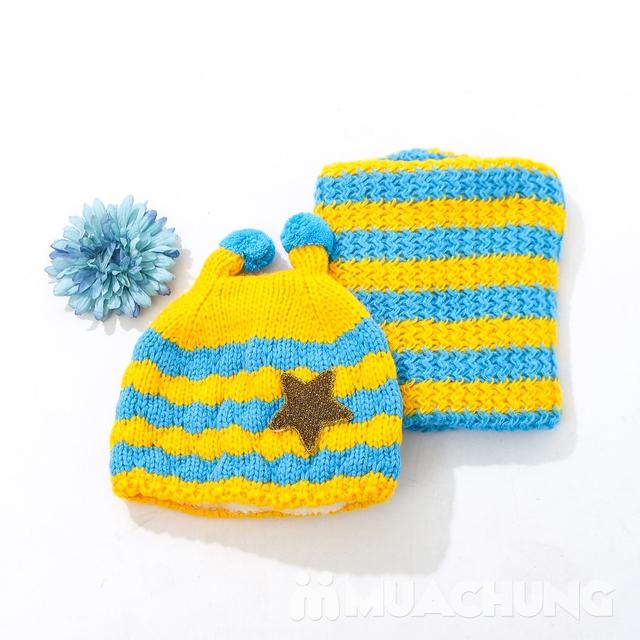 Set khăn ống+ mũ len ốc sên xinh yêu, ấm áp cho bé - 7