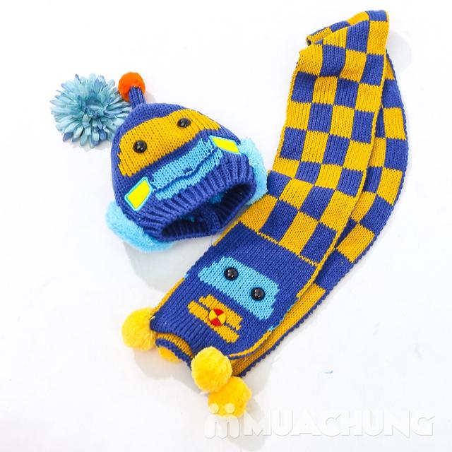 Set khăn dài + mũ len hình robot ngộ nghĩnh cho bé - 9