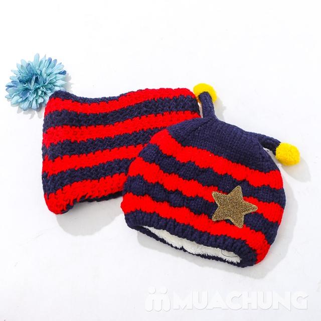 Set khăn ống+ mũ len ốc sên xinh yêu, ấm áp cho bé - 9