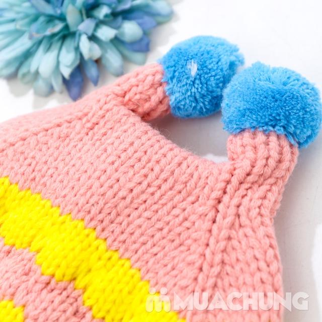 Set khăn ống+ mũ len ốc sên xinh yêu, ấm áp cho bé - 3